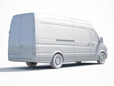 3d White Delivery Van Icon