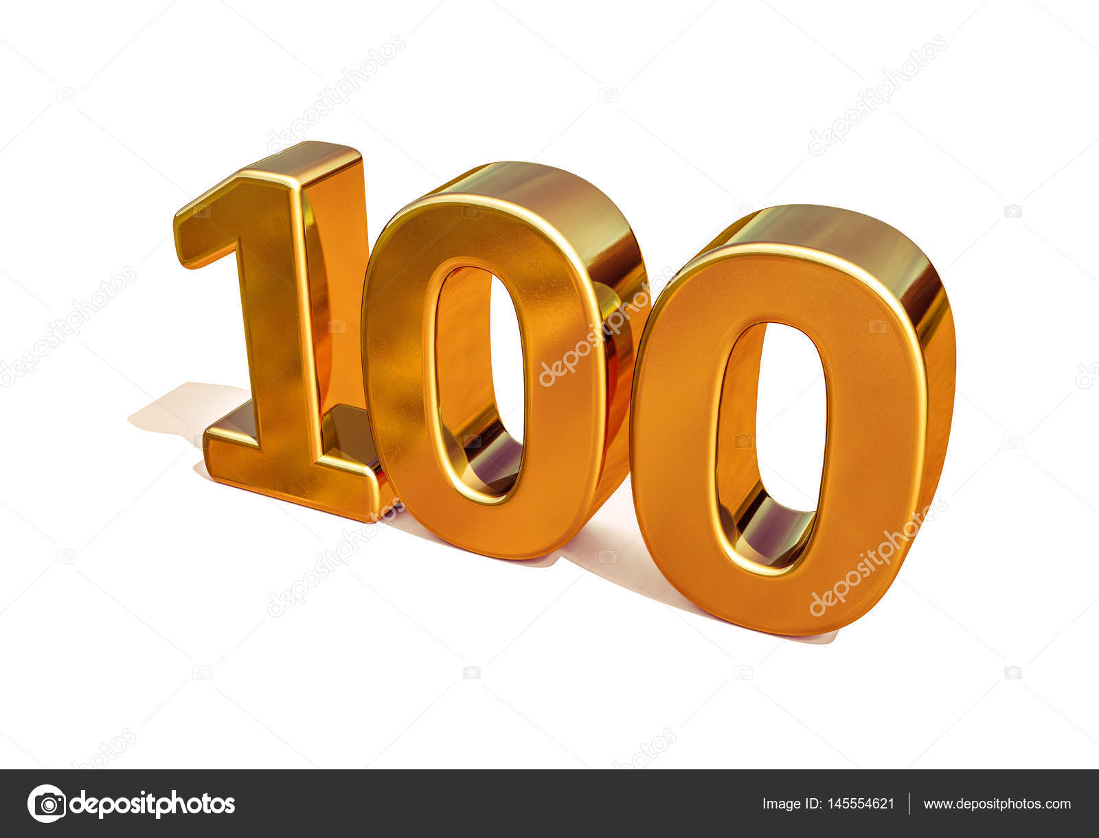 Goud 3d 100ste Verjaardag Ondertekenen Stockfoto C Supertrooper