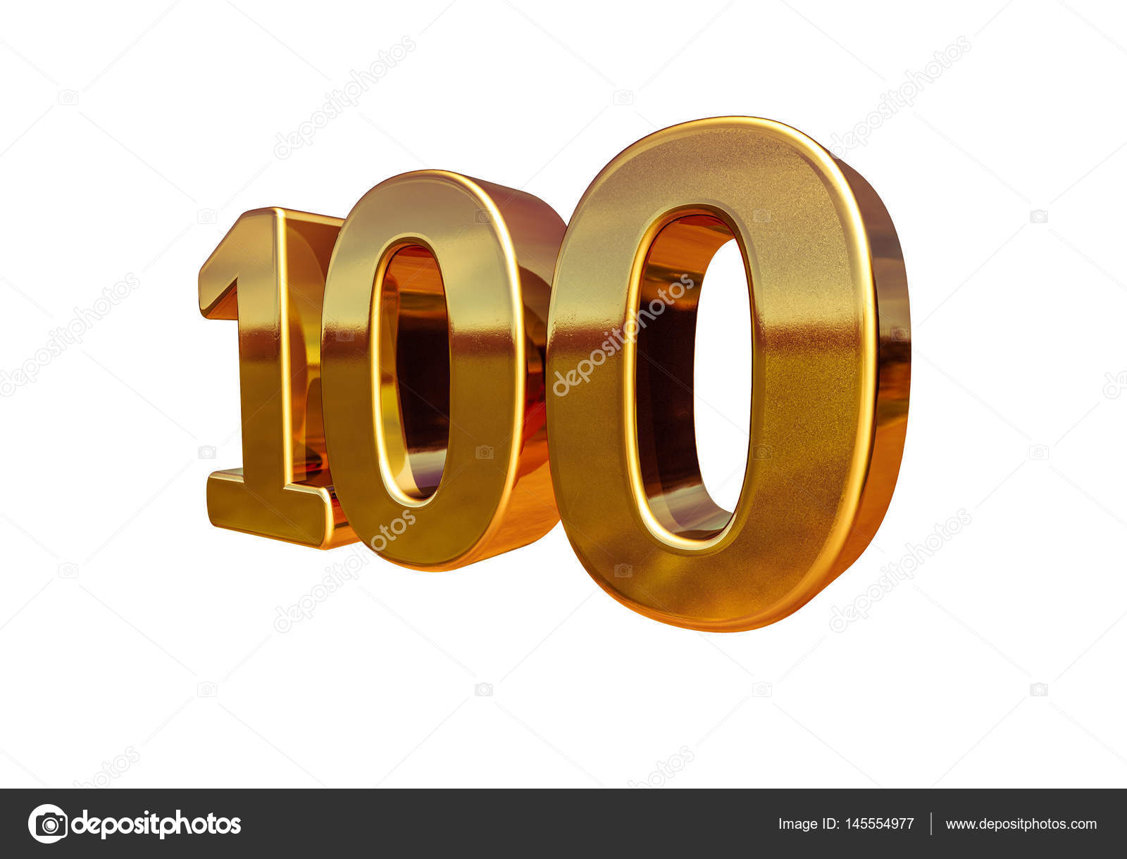Gold 3d 100th Anniversary Sign Stock Photo Supertrooper 145554977