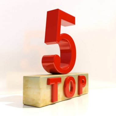 Top 5 3D Rating Sign