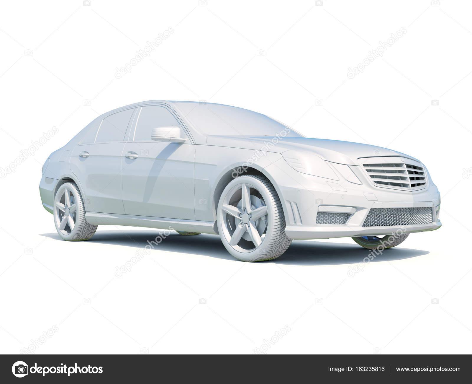 3 d 車白空白のテンプレート ストック編集用写真 supertrooper 163235816