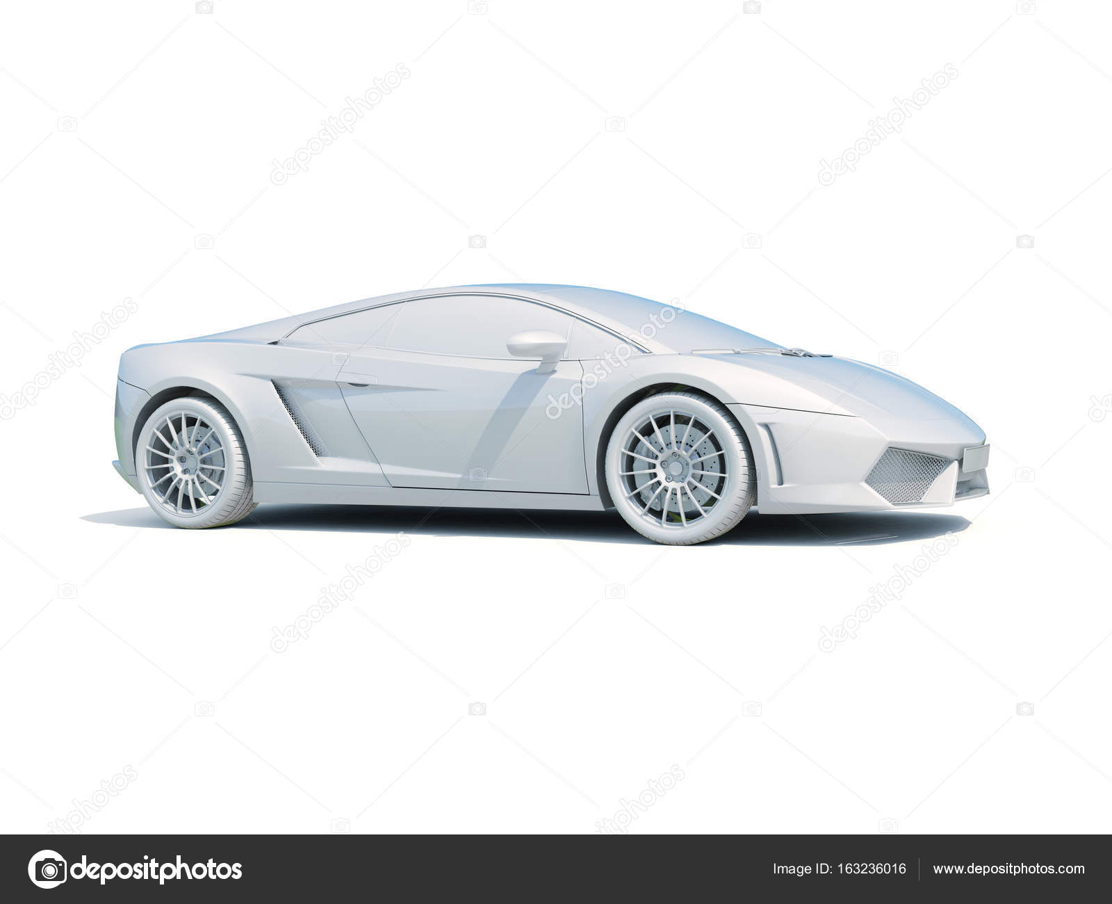 3d Car White Blank Template – Stock Editorial Photo