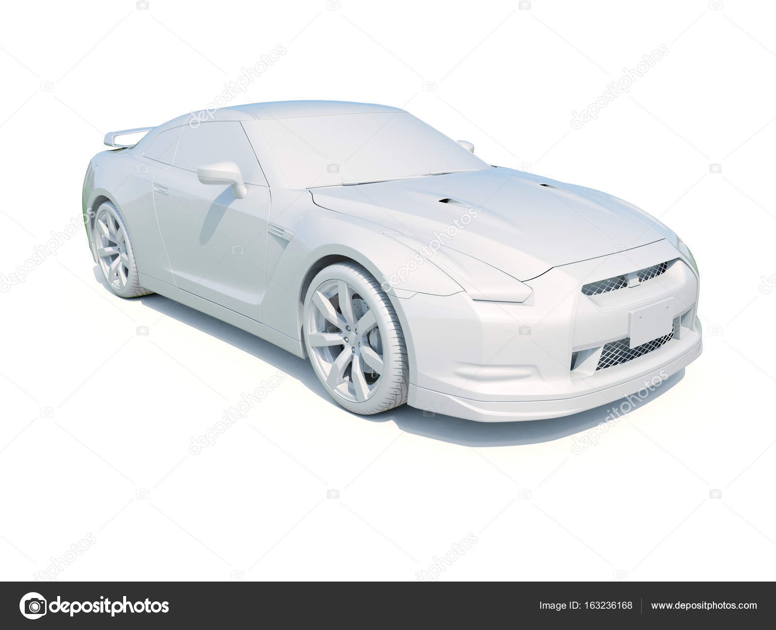 3d Car White Blank Template – Stock Editorial Photo © Supertrooper