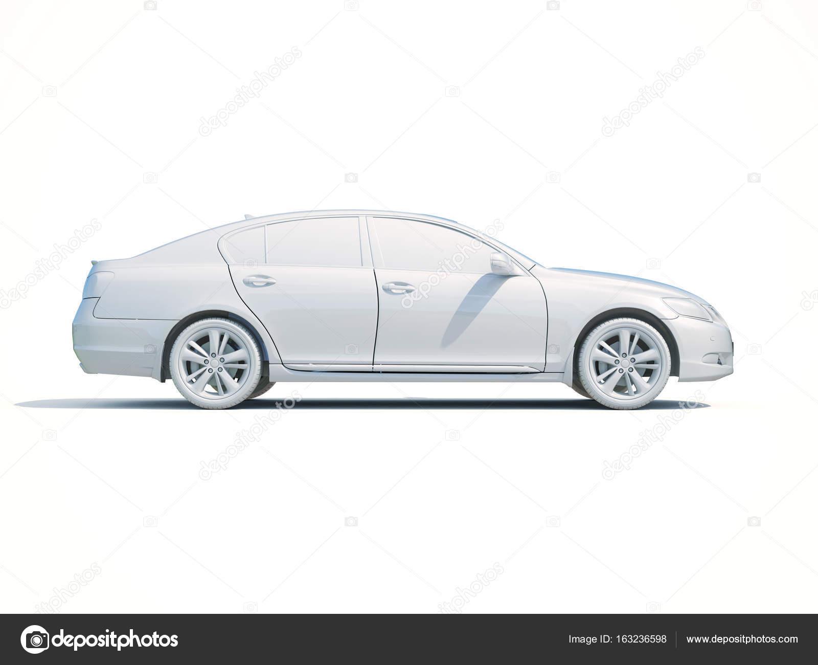 coche 3D blanco plantilla en blanco — Foto editorial de stock ...