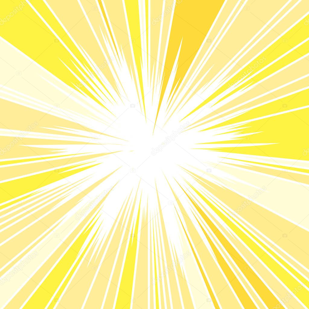 Hot and Glittering Summer Sun