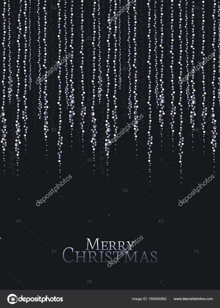 Christmas string lights — Stock Vector © odina222 #169094882 for String Lights Black Background  579cpg