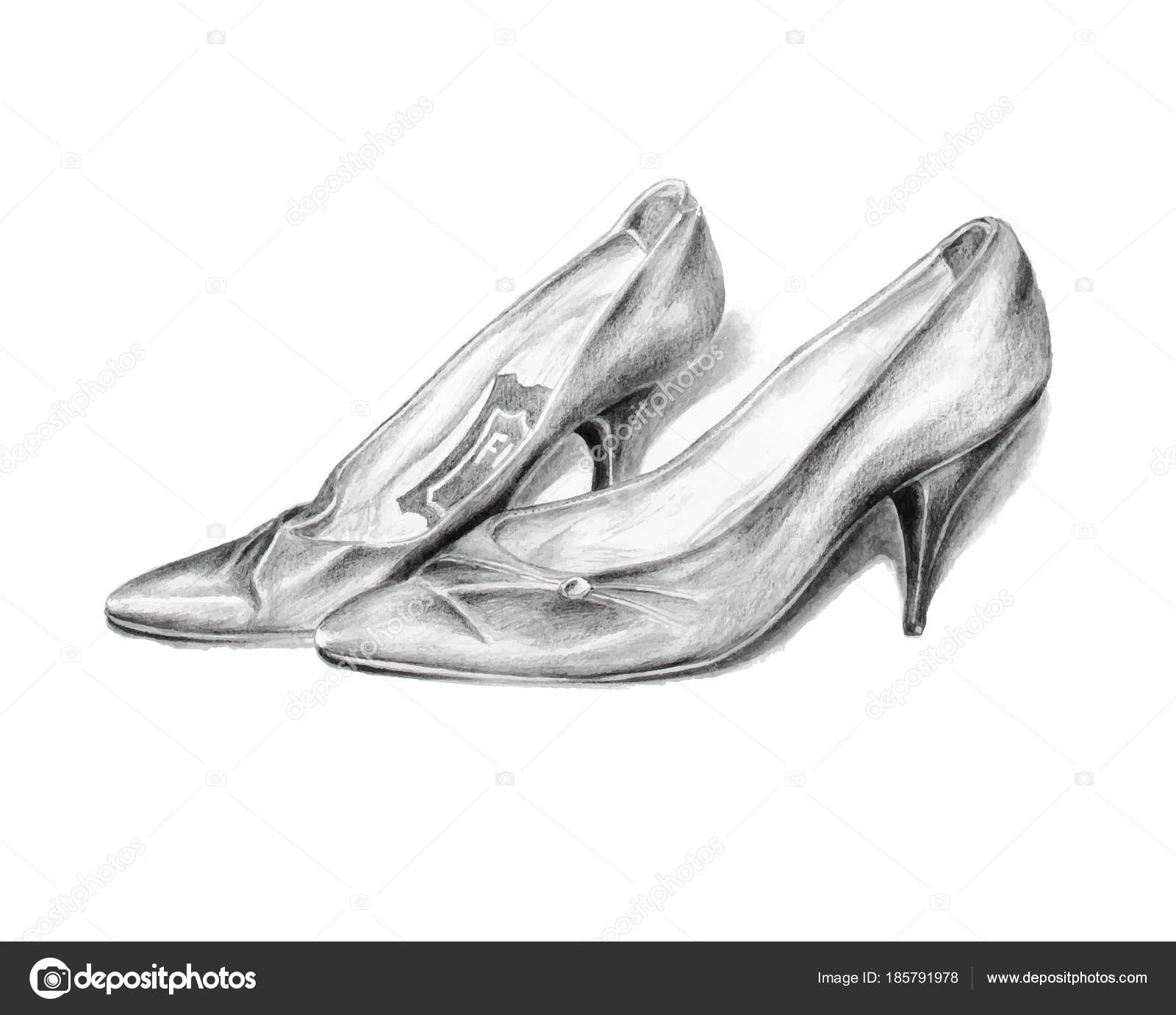 Tacco Vintage Scarpe Matita Paio Disegno Ladys Alto 0qwtZRnX