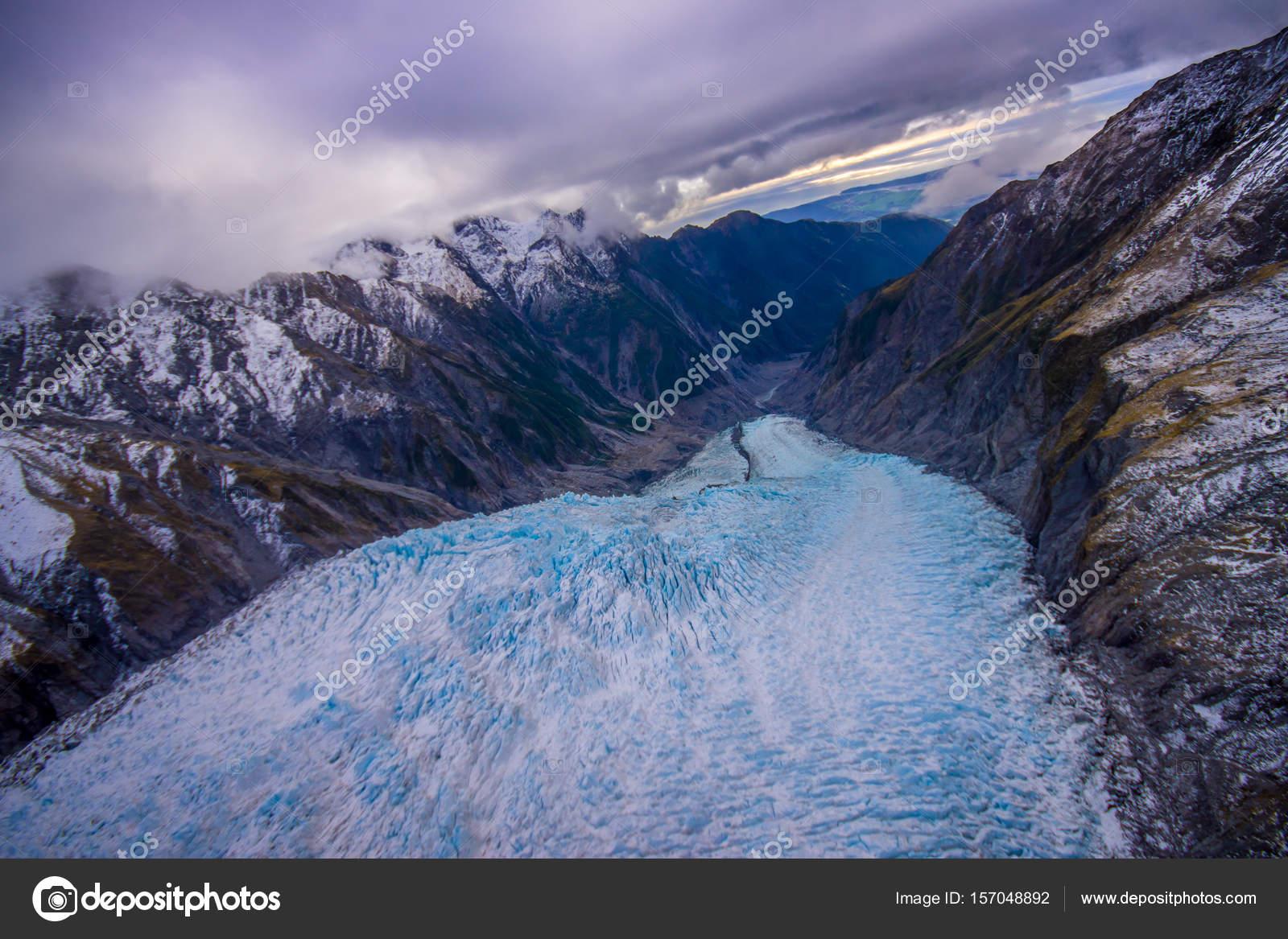 Paesaggio panoramico al ghiacciaio di franz josef alpi for Piani di fattoria del sud