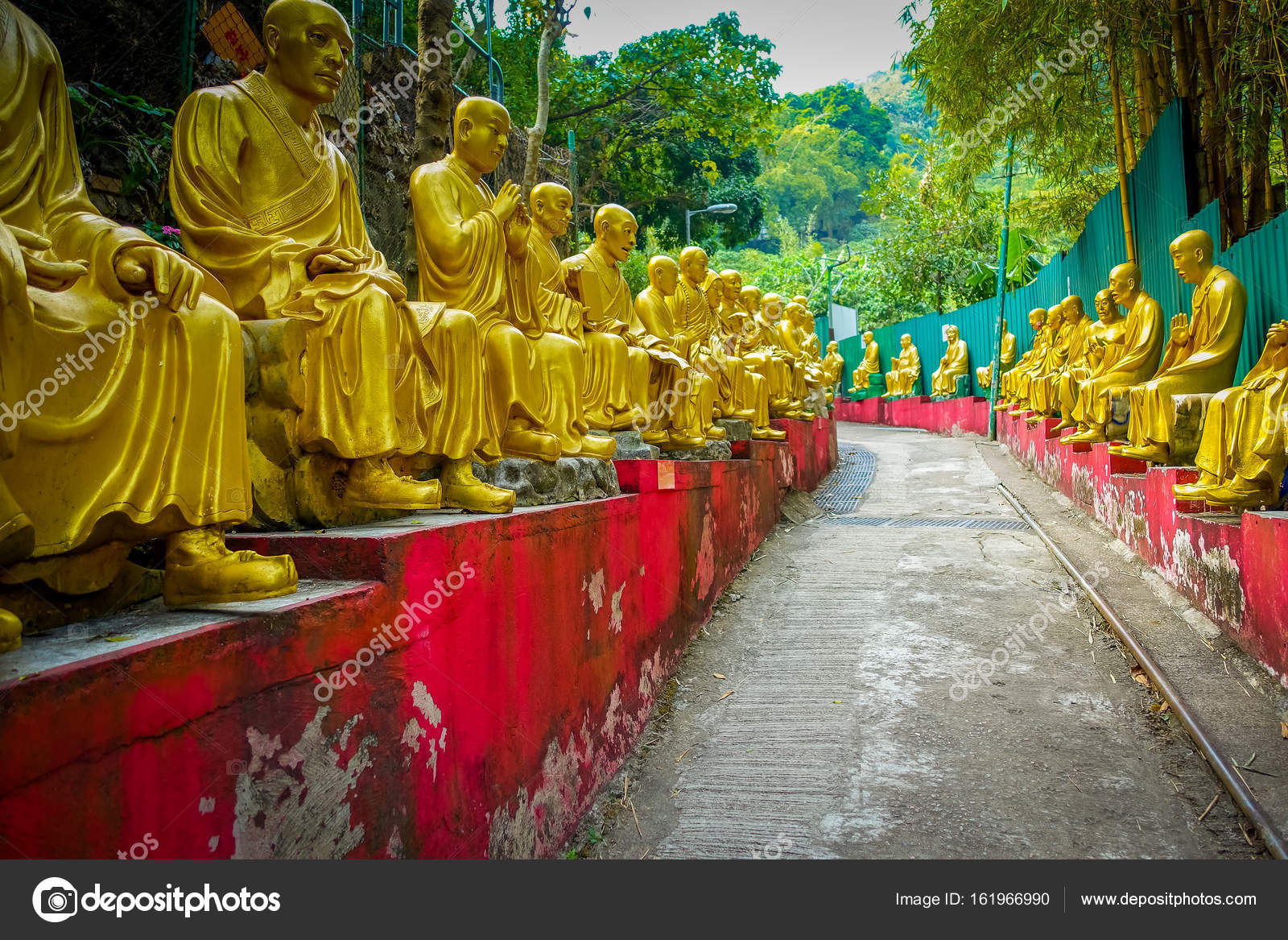 Statues At Ten Thousand Buddhas Monastery In Sha Tin Hong Kong China Stock Photo By C Pxhidalgo 161966990