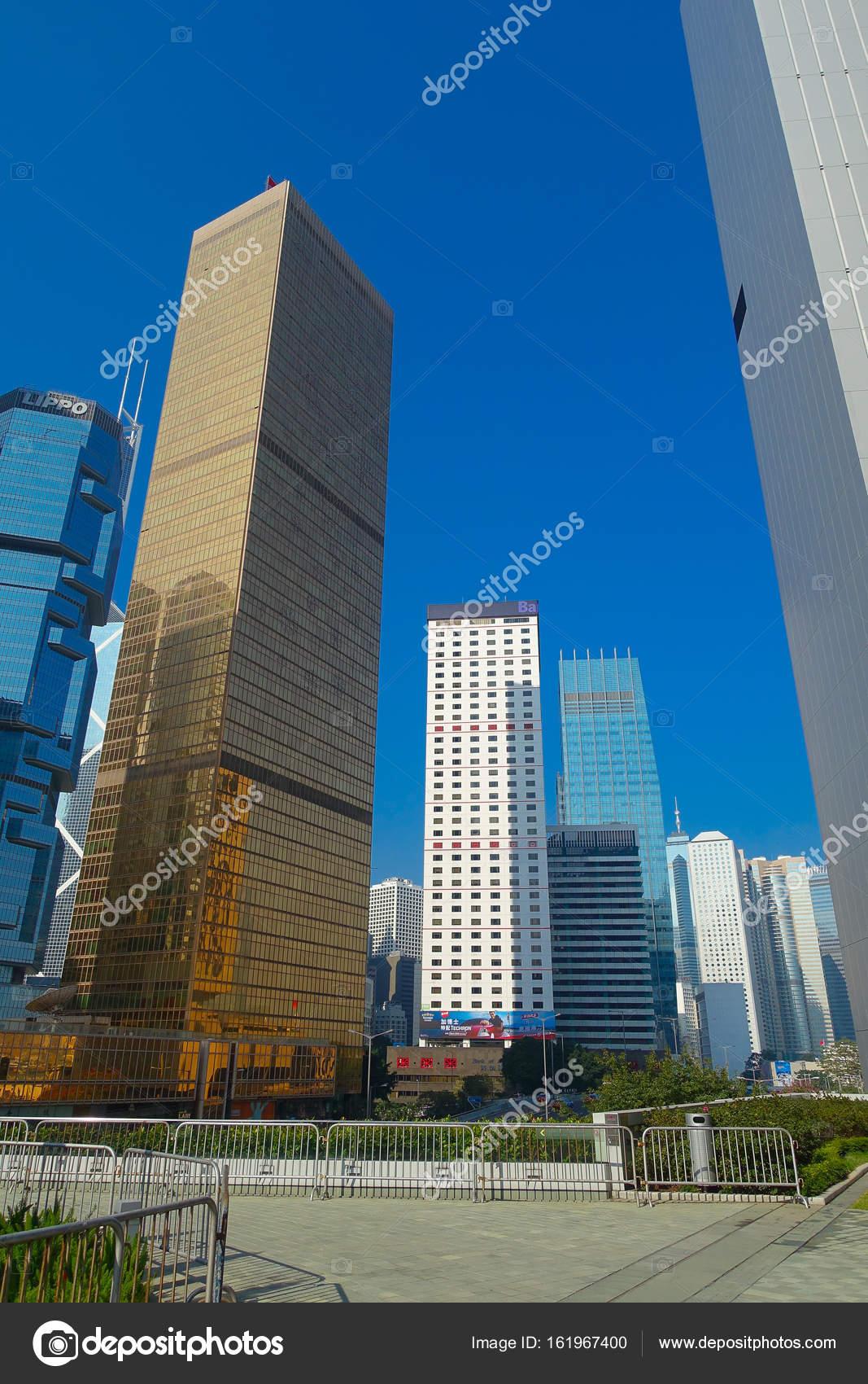 hong kong china january 26 2017 modern buildings in finance