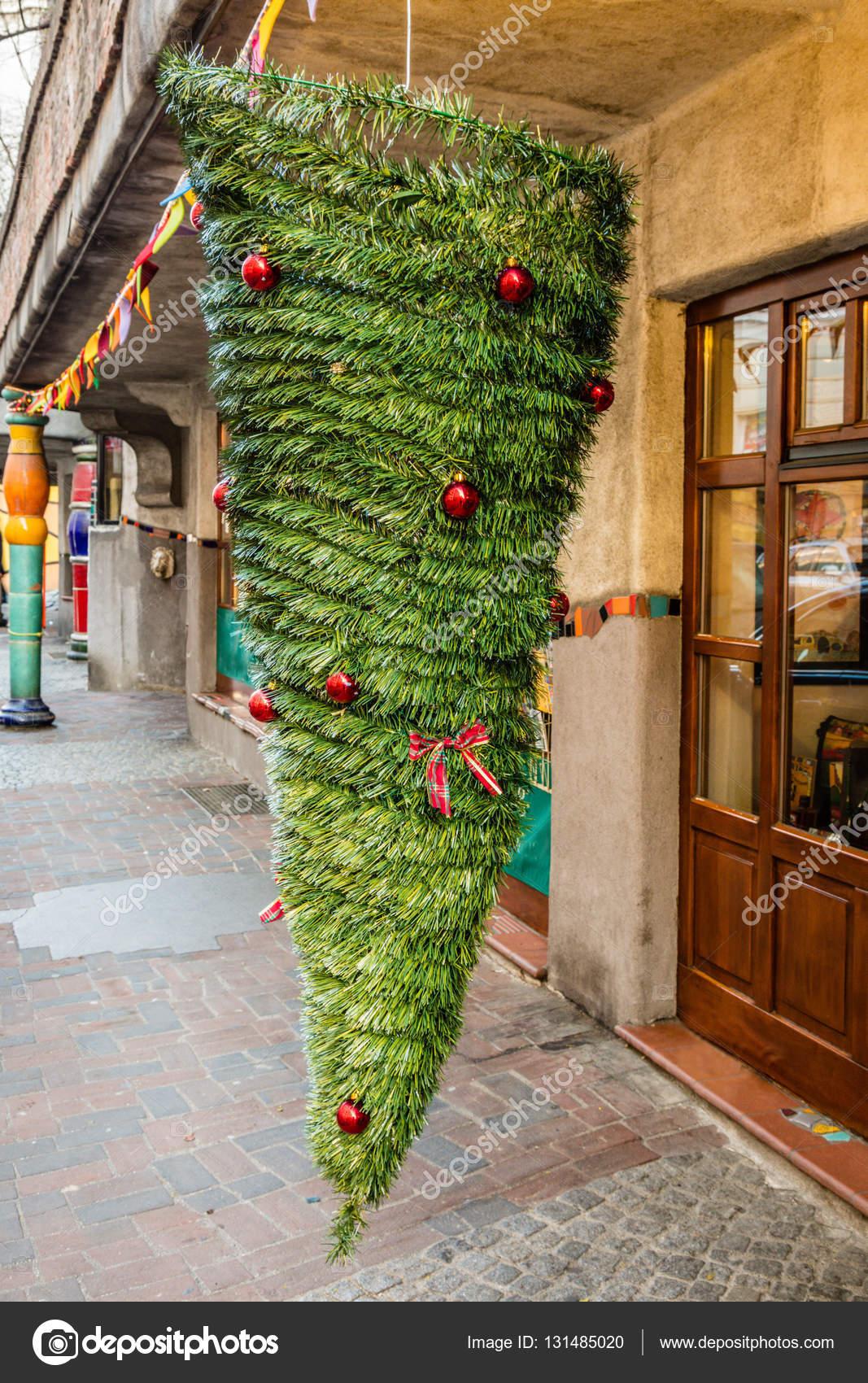 österreich Weihnachtsbaum.Kopf Weihnachtsbaum Wien österreich Stockfoto Gekkogallary