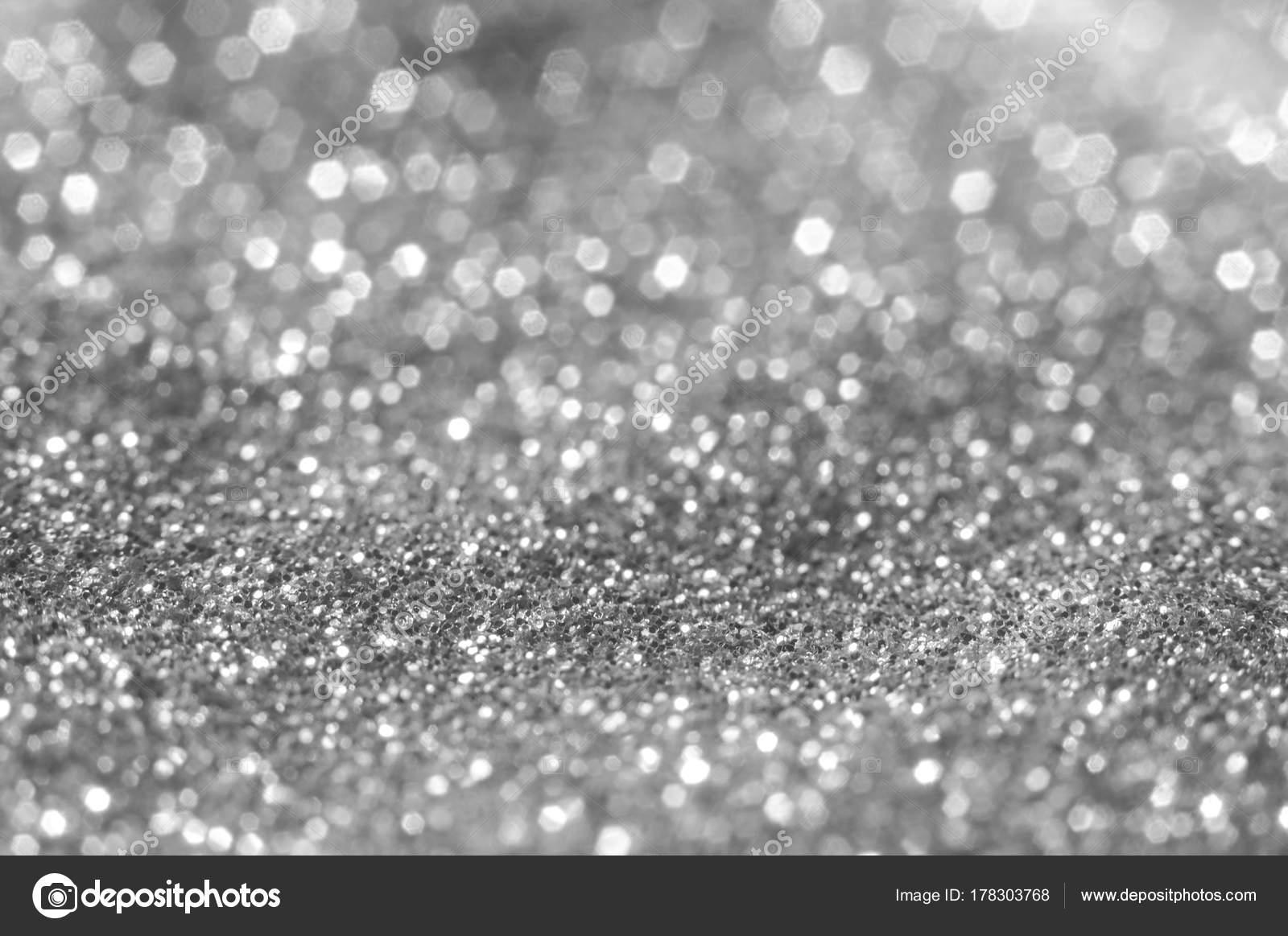 Riepilogo di brillante e scintillante di bokeh. argento e diamanti
