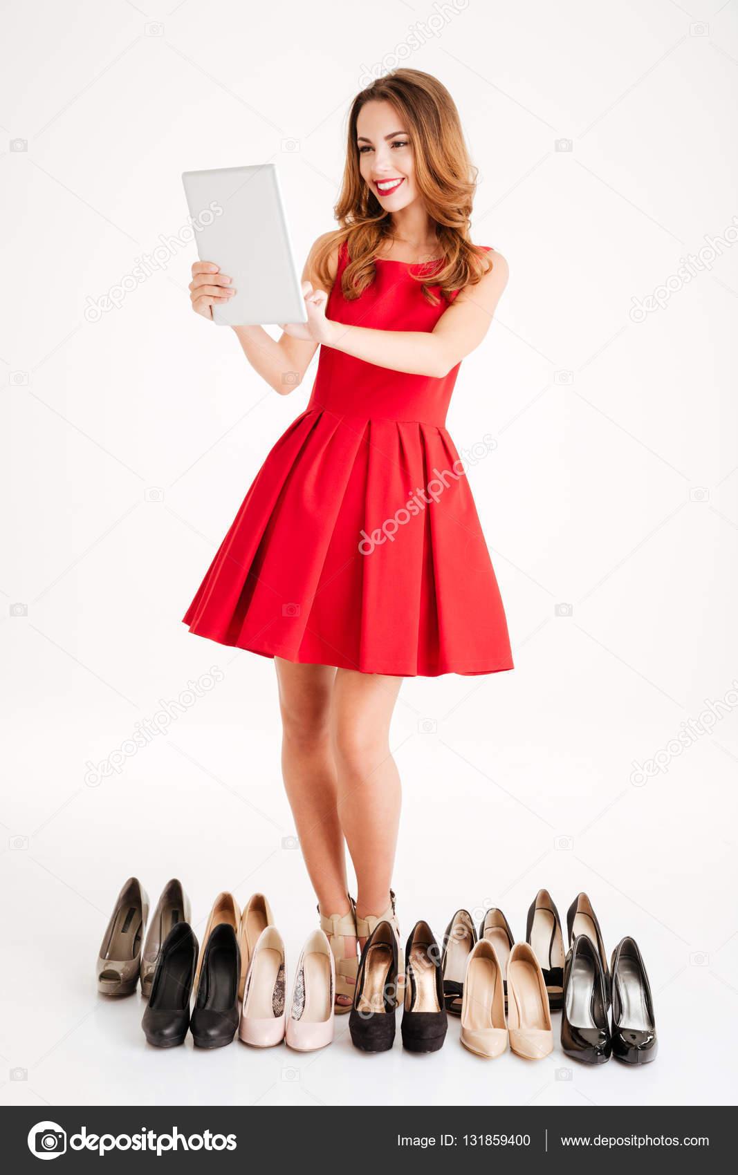 Vestidos rojos y zapatos
