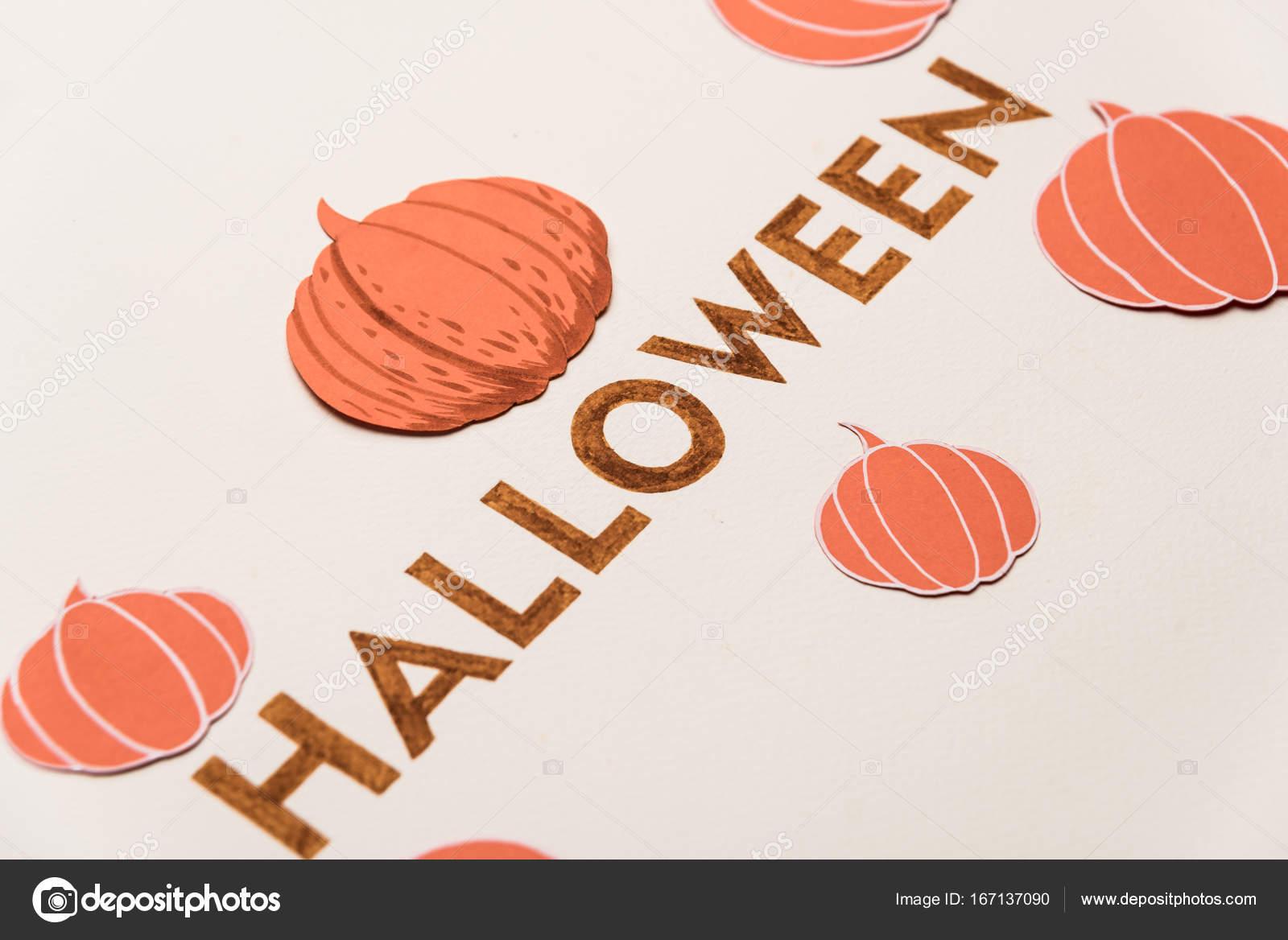 Typeface Text For Halloween Logo Handwritten On White Background