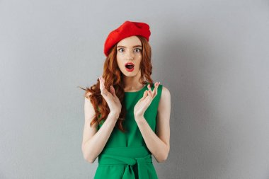 Redhead young shocked lady