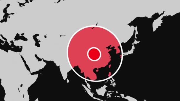 Mapa světa distribuce koronaviru