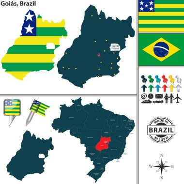 Map of Goias, Brazil