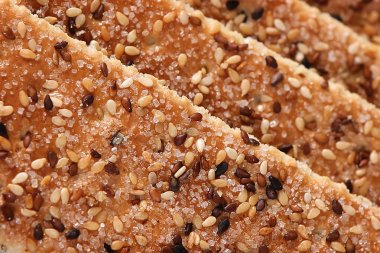 Sesame cakes with sugar