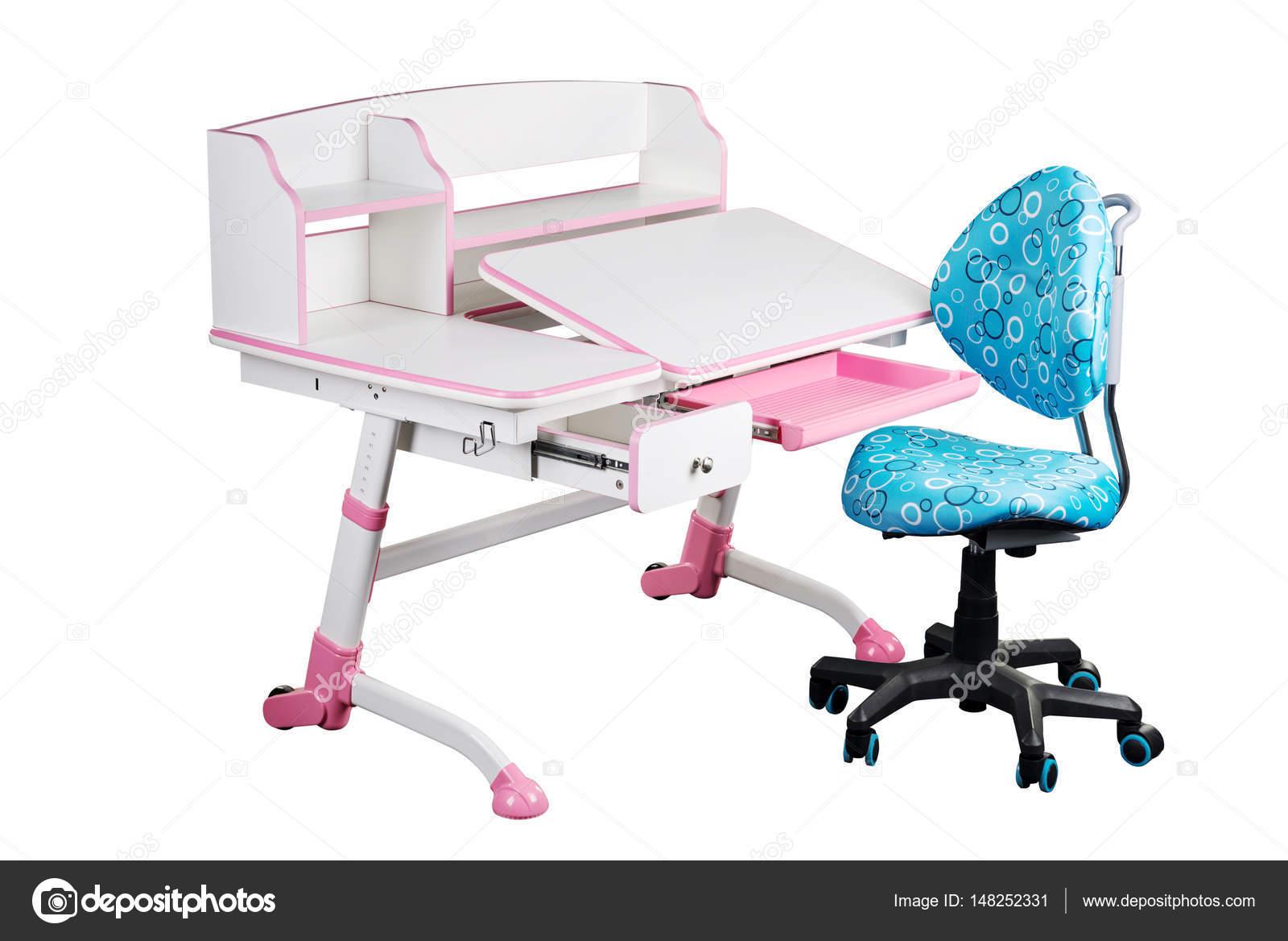 Blaue Schule Schreibtisch Und Blaue Sessel Stockfoto Eremey90