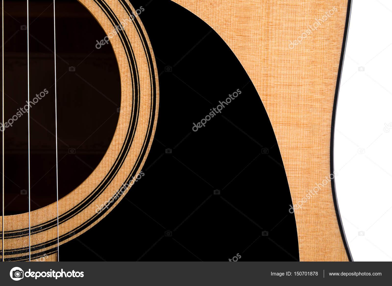 Bestandteil einer akustischen Gitarre, Deck, auf einem weißen ...