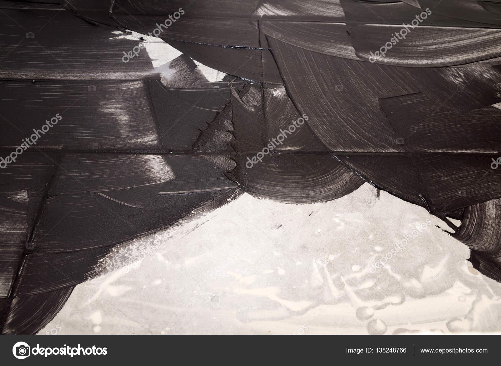 Stuccatura di piastrelle di luce con stucco nero come sfondo u2014 foto