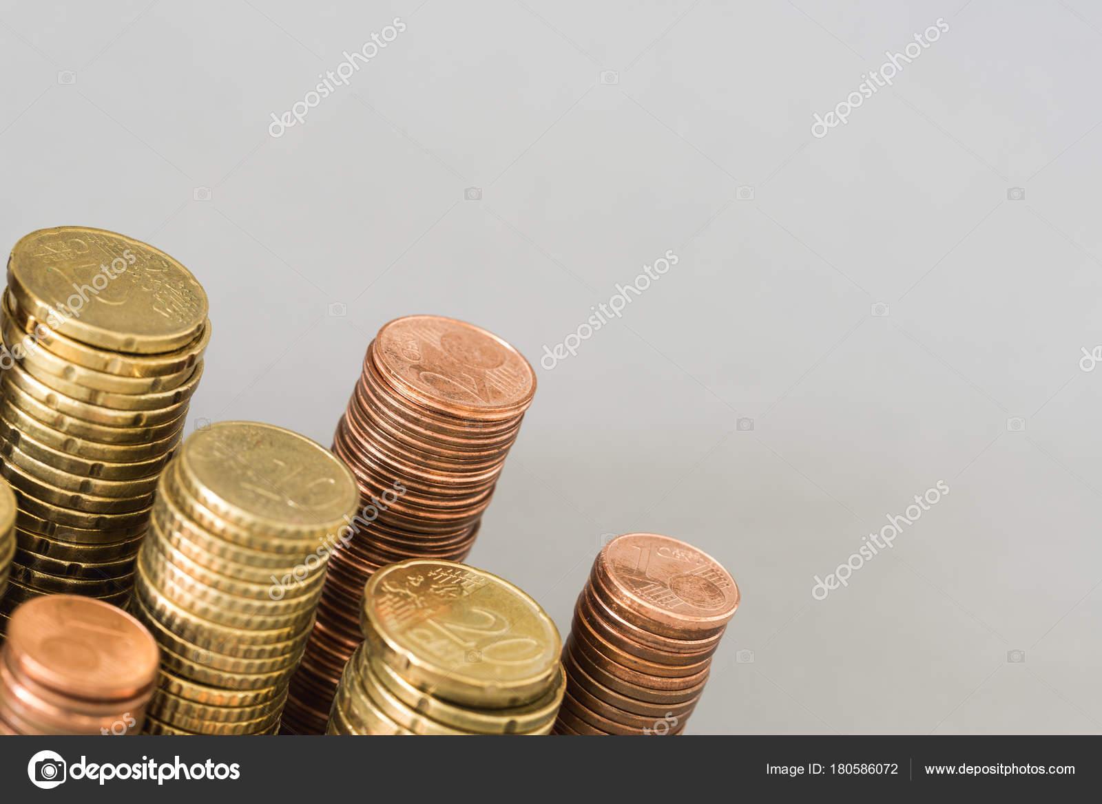 Geld Turm Der Münzen Als Vorlage Von Oben Stockfoto Abasler