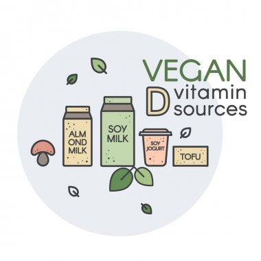 Vector Icon Style Illustration of Pack of Soy Milk with Green Leafs. Vegan and Vegetarian Source of Protein and Vitamin D. Isolated Fully Editable Vector Image for Your Design icon