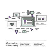 Fotografie Contextual advertising as a form of targeted advertising Illustration