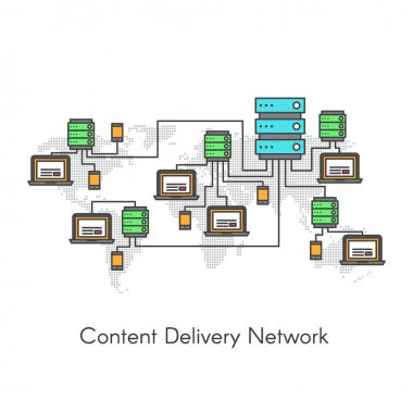 Content Delivery Network or Content Distribution Network CDN
