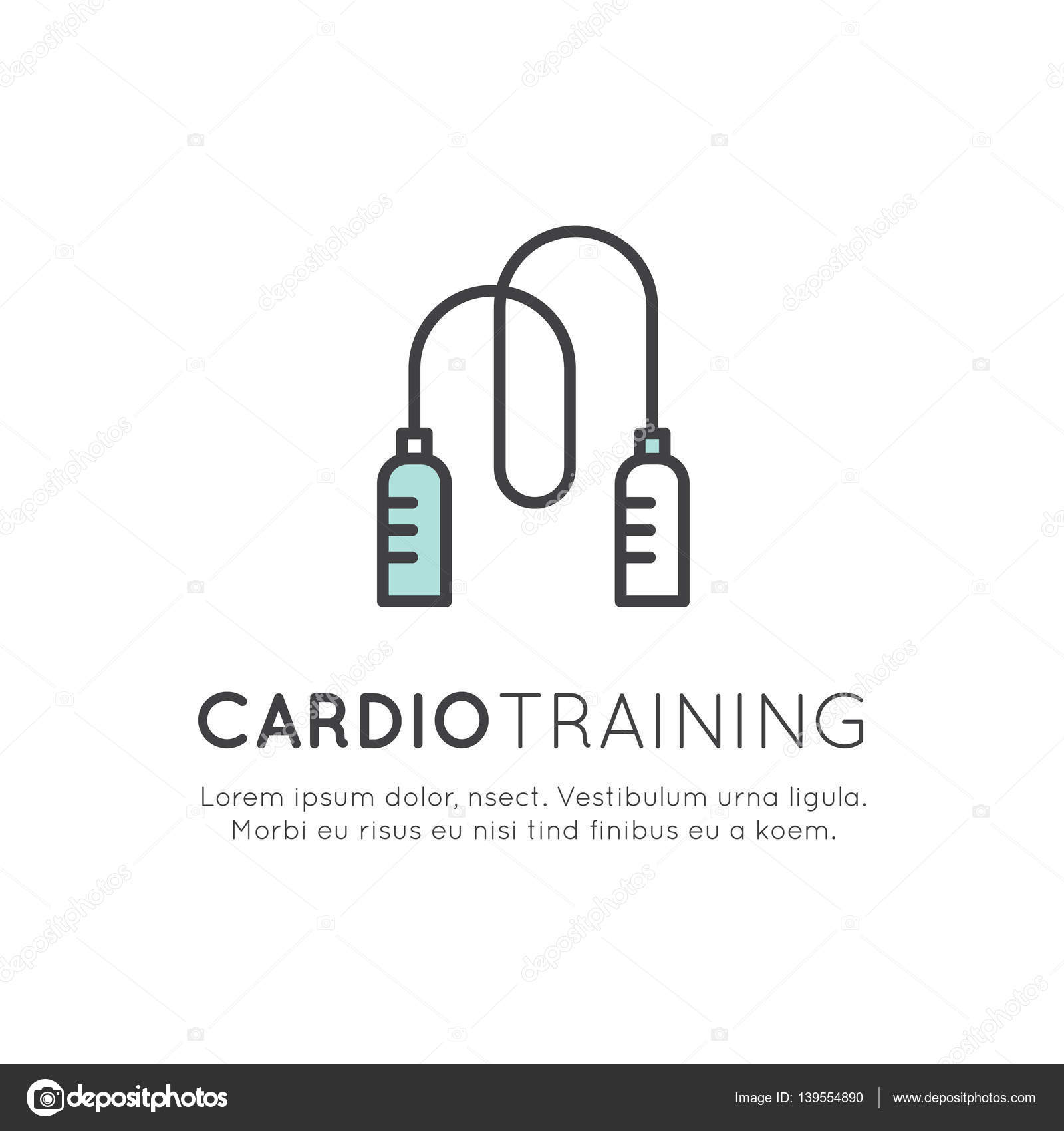 Cardio Training Fitness And Gym Workout Stock Vector