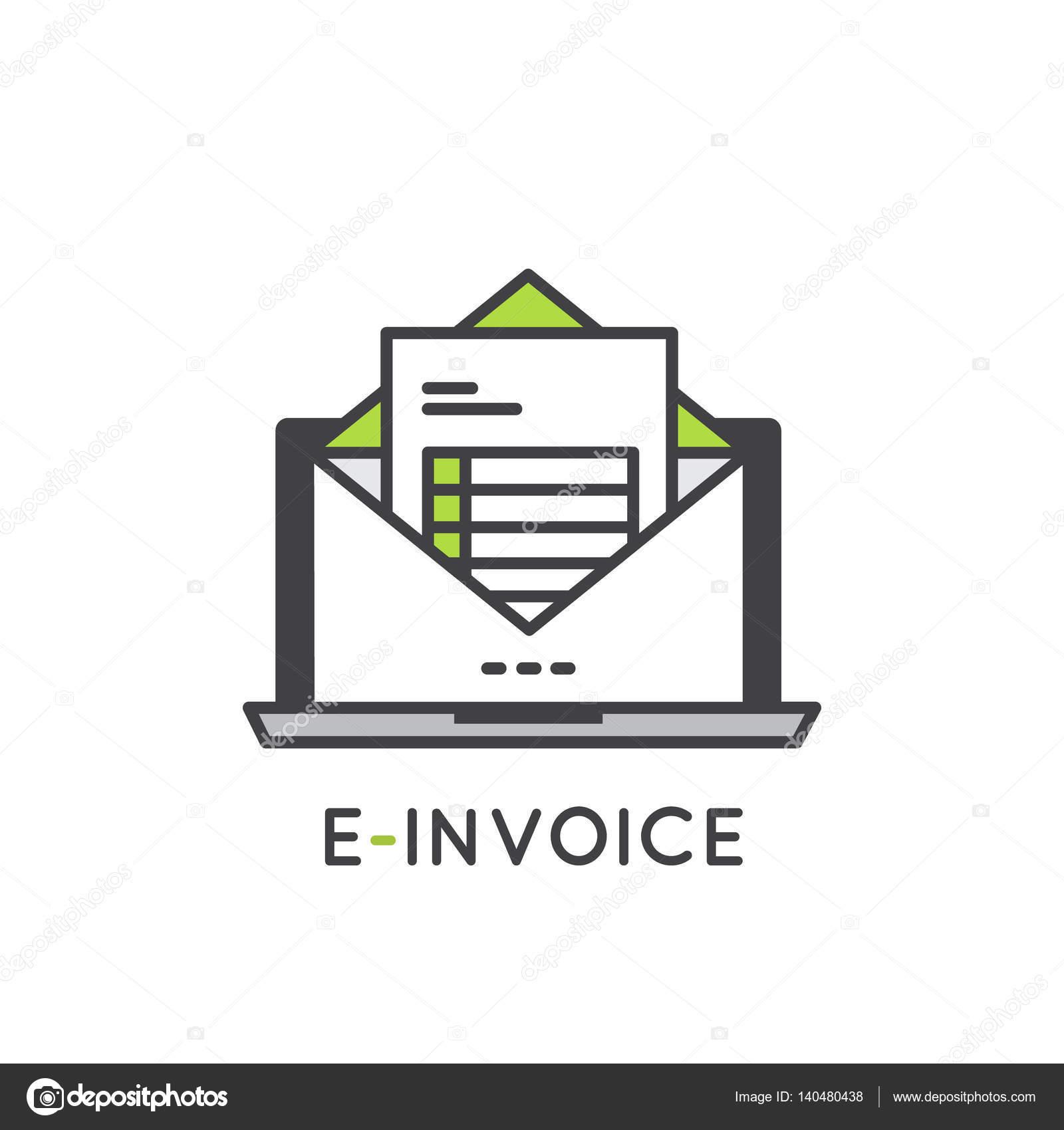 Correo electrónico de la factura electrónica papel bandeja de ...