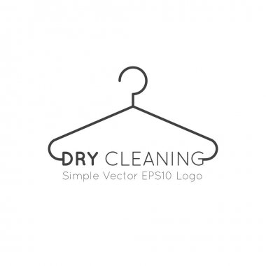 Logo Set Collection of Laundry Service, Washing and Clening Up Clothes, Dry Cleaning, Drying, Ironing and Household Car