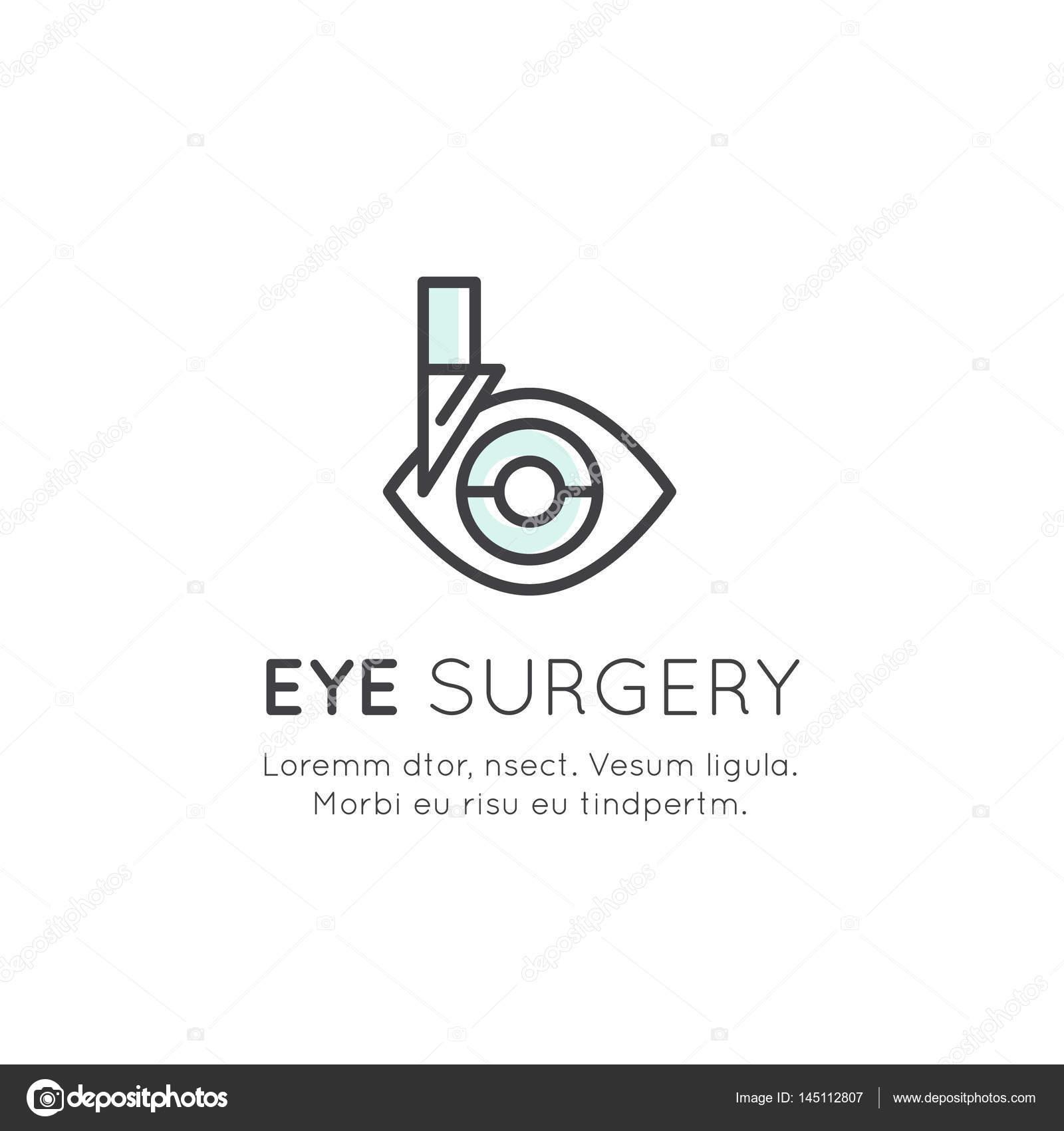 Logo Of Eye Surgery Diagnostic Treatment Professional Lab Stock Vector C Bub0bub0 145112807