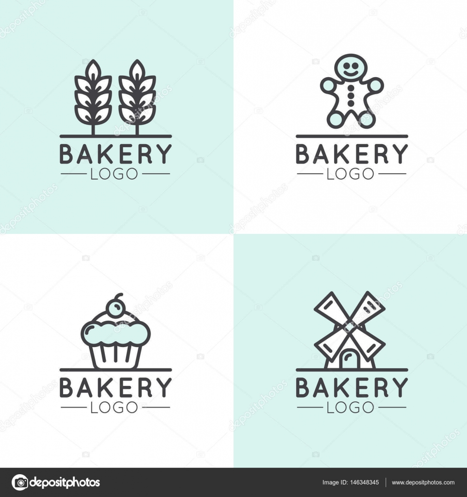 Concept Logo Of Bakery Mill Bread Product Store Or Market