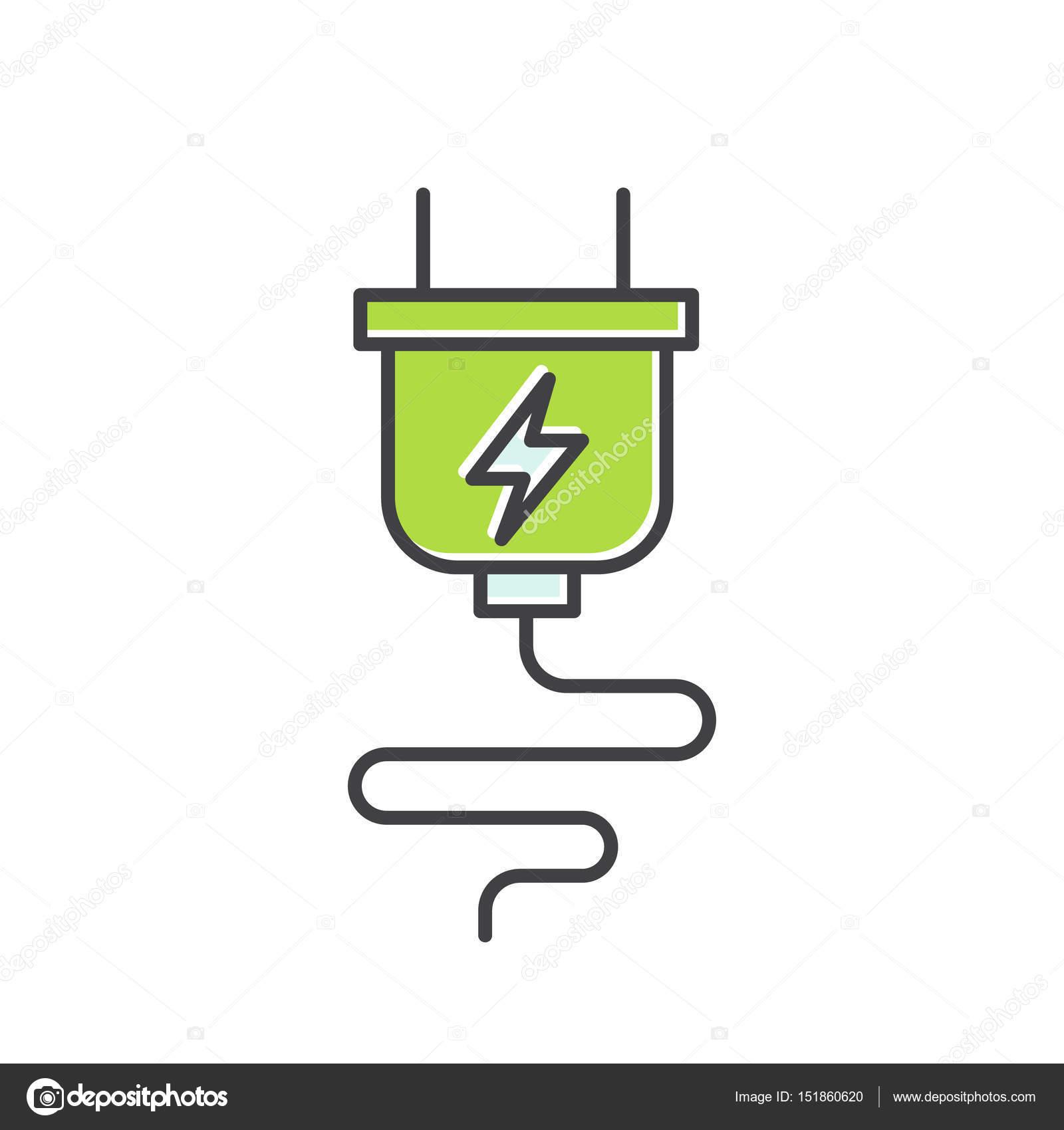 Power Supply Plug Charger, — Stock Vector © Bub0Bub0 #151860620