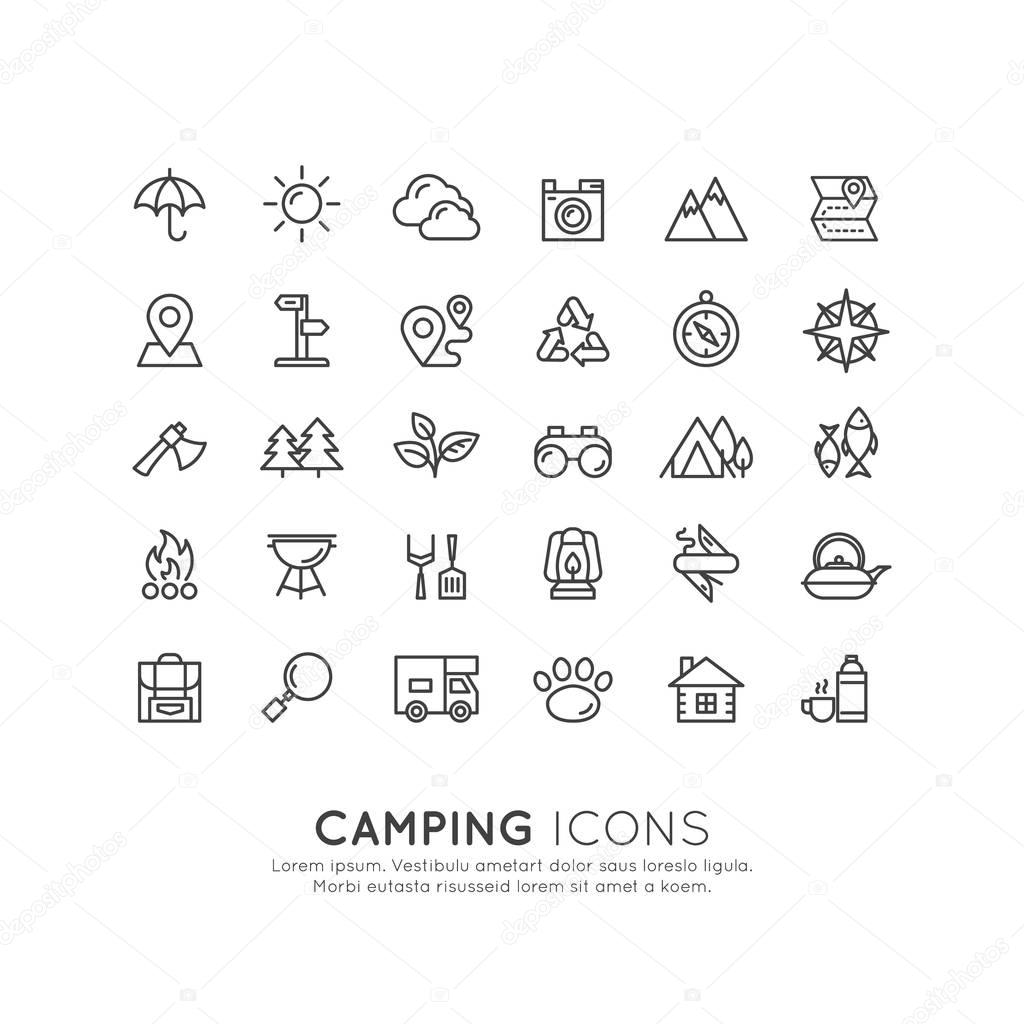 Camping Outdoor Activity Tools, Isolated Object