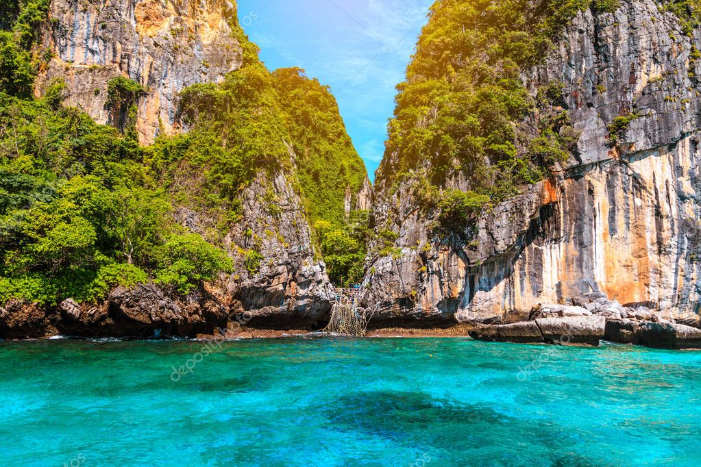 Loh sa ma bay the entrance to maya bay Phi Phi Islands andaman s