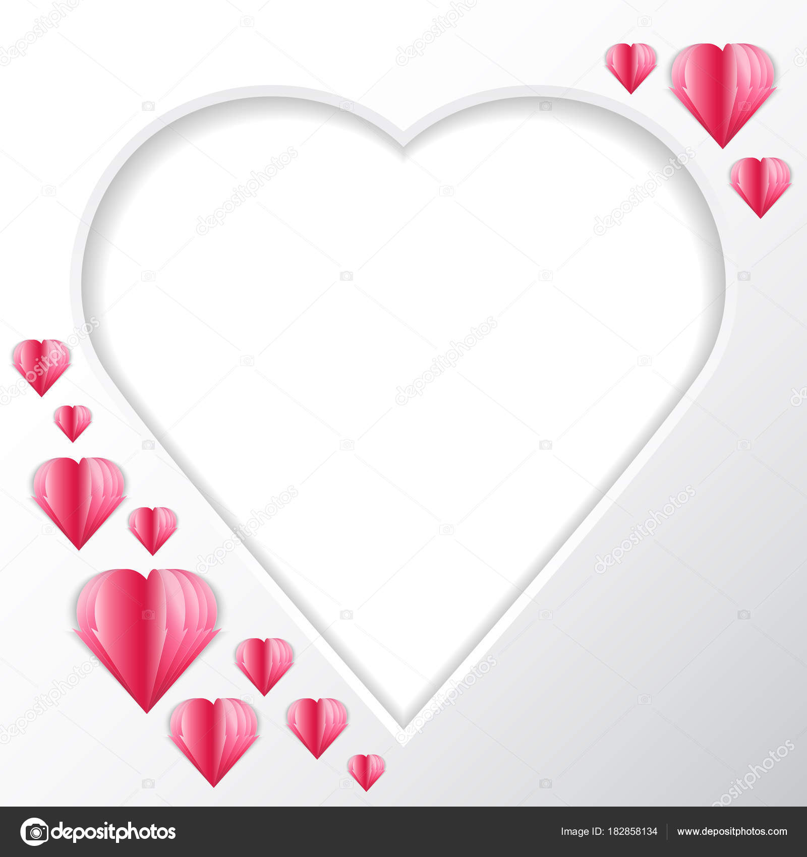 Frame Heart Background Form Heart Your Text Photos Tender Feeling ...