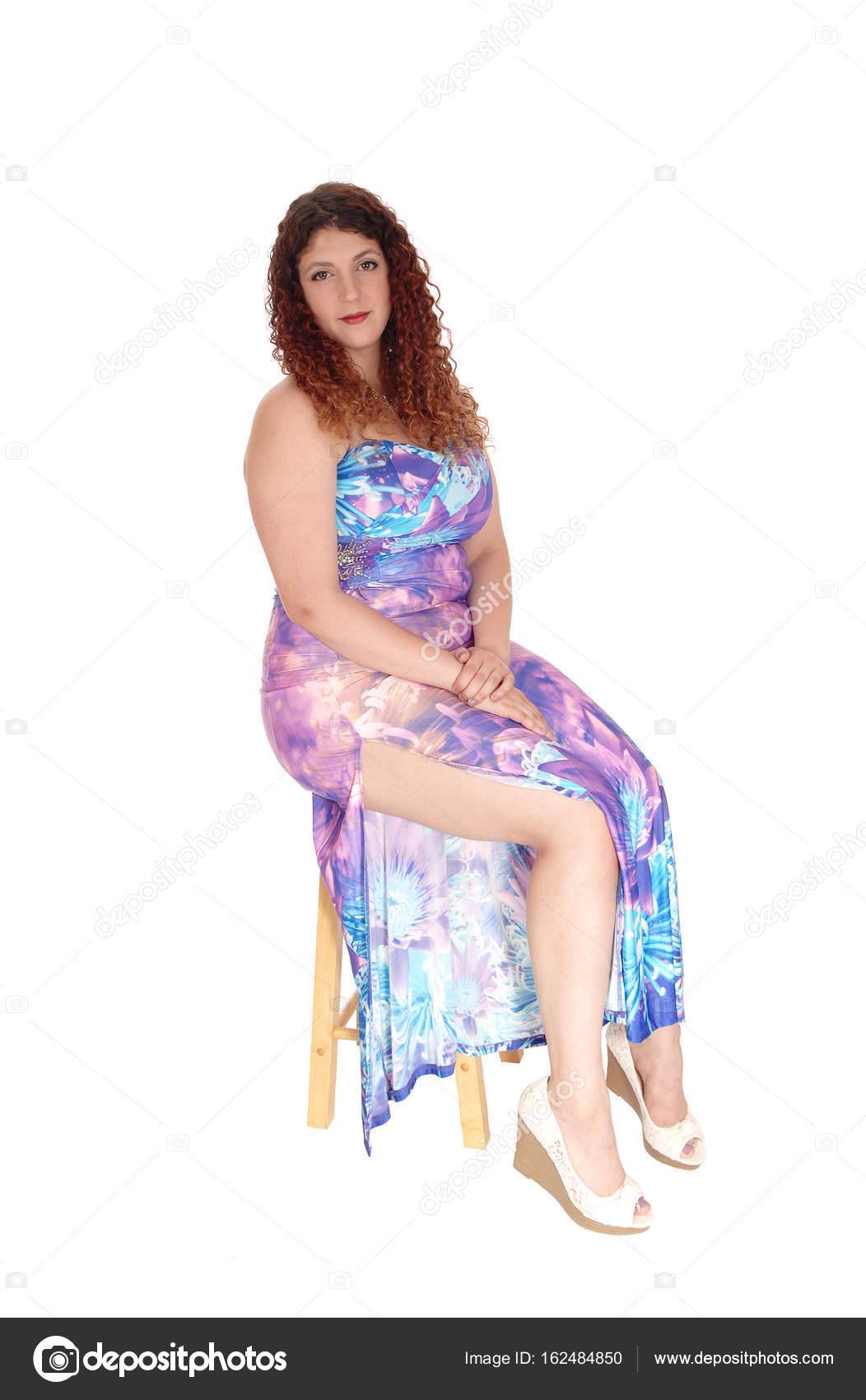 Stock Donna Lungo Da Sucher Sera Seduta Bella In Foto — © Un Abito N8OmwnPyv0