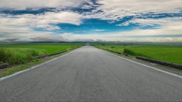 přírodní letní krajina s asfaltkou k obzoru a nádherný výhled