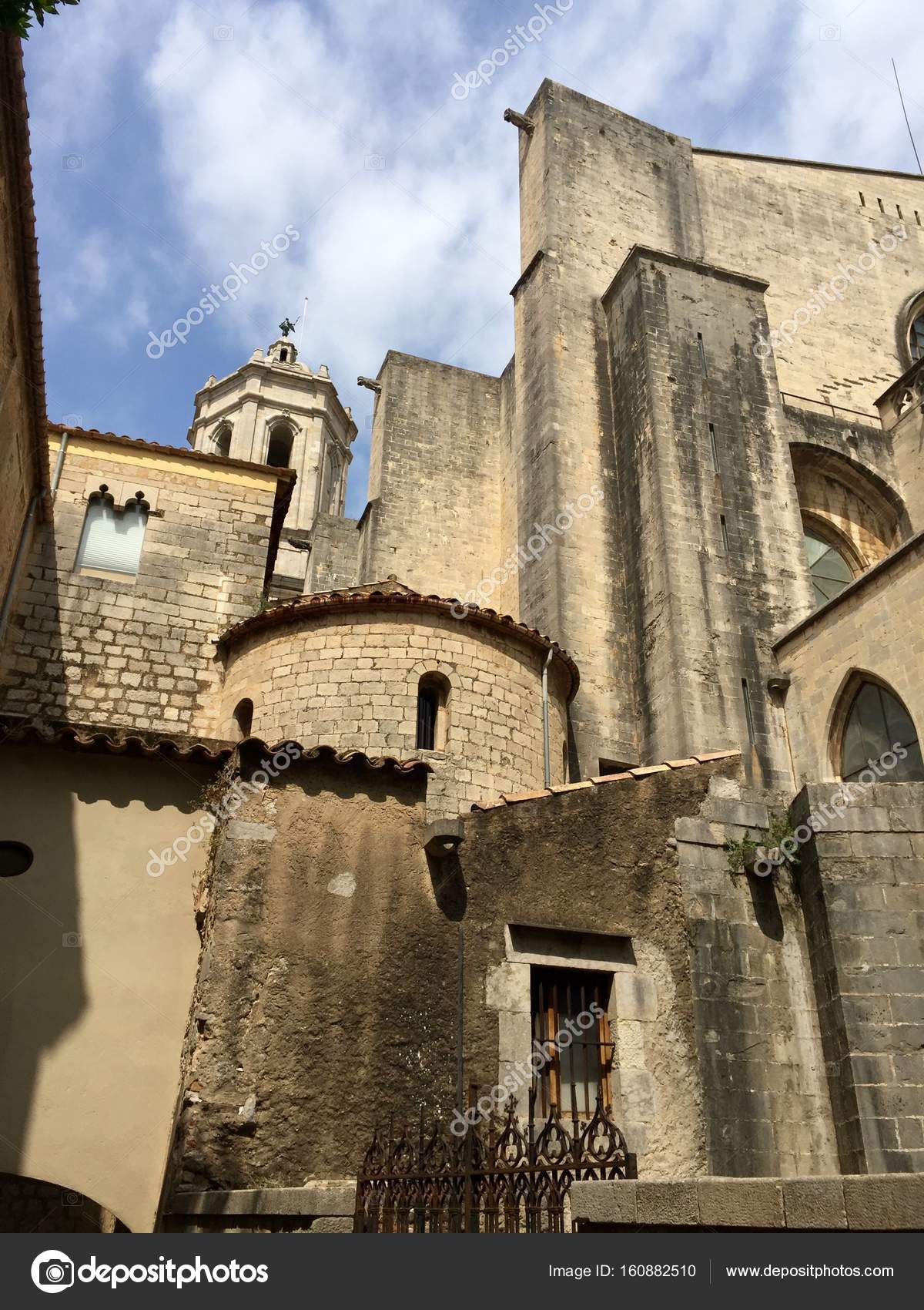 The Cathedral Of Girona Spain The Cathedral Of Saint Mary Foto