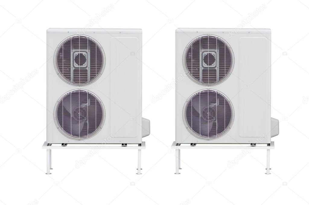 Two air conditioners external isolation