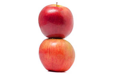 Two red apples isolated
