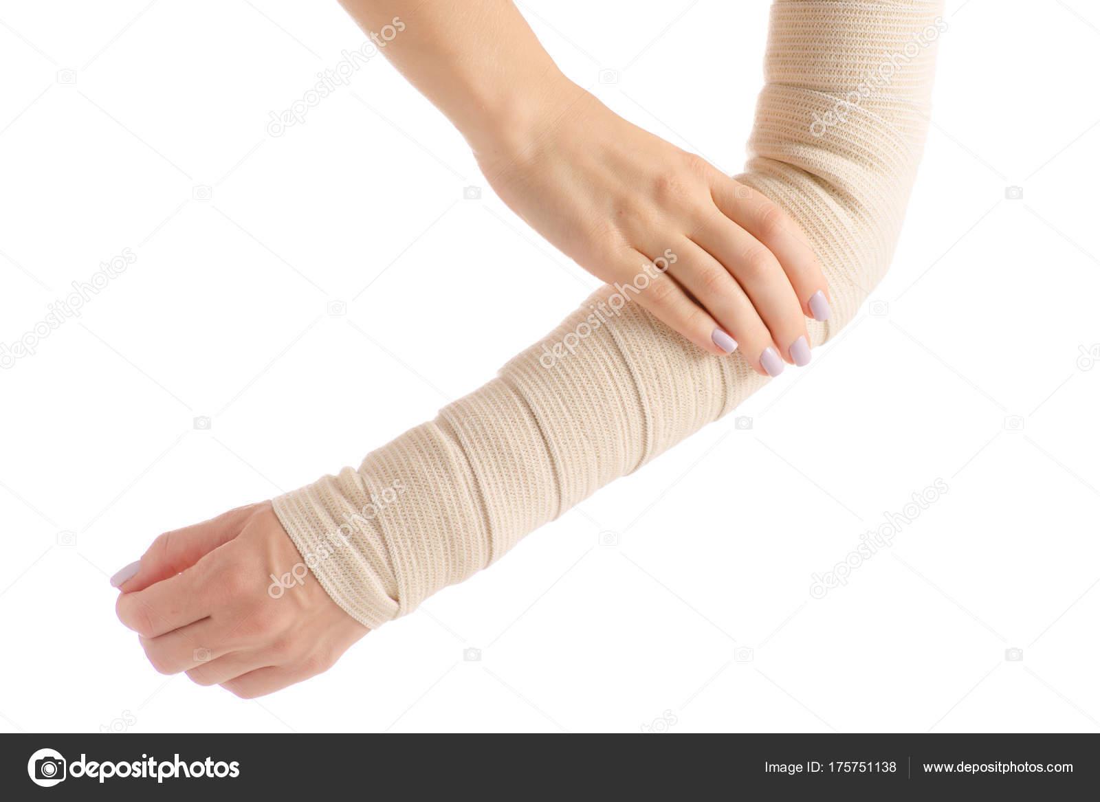 Female Hand Elastic Bandage Injury Stock Photo C Evgenyjs1