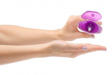 Female hand shower gel