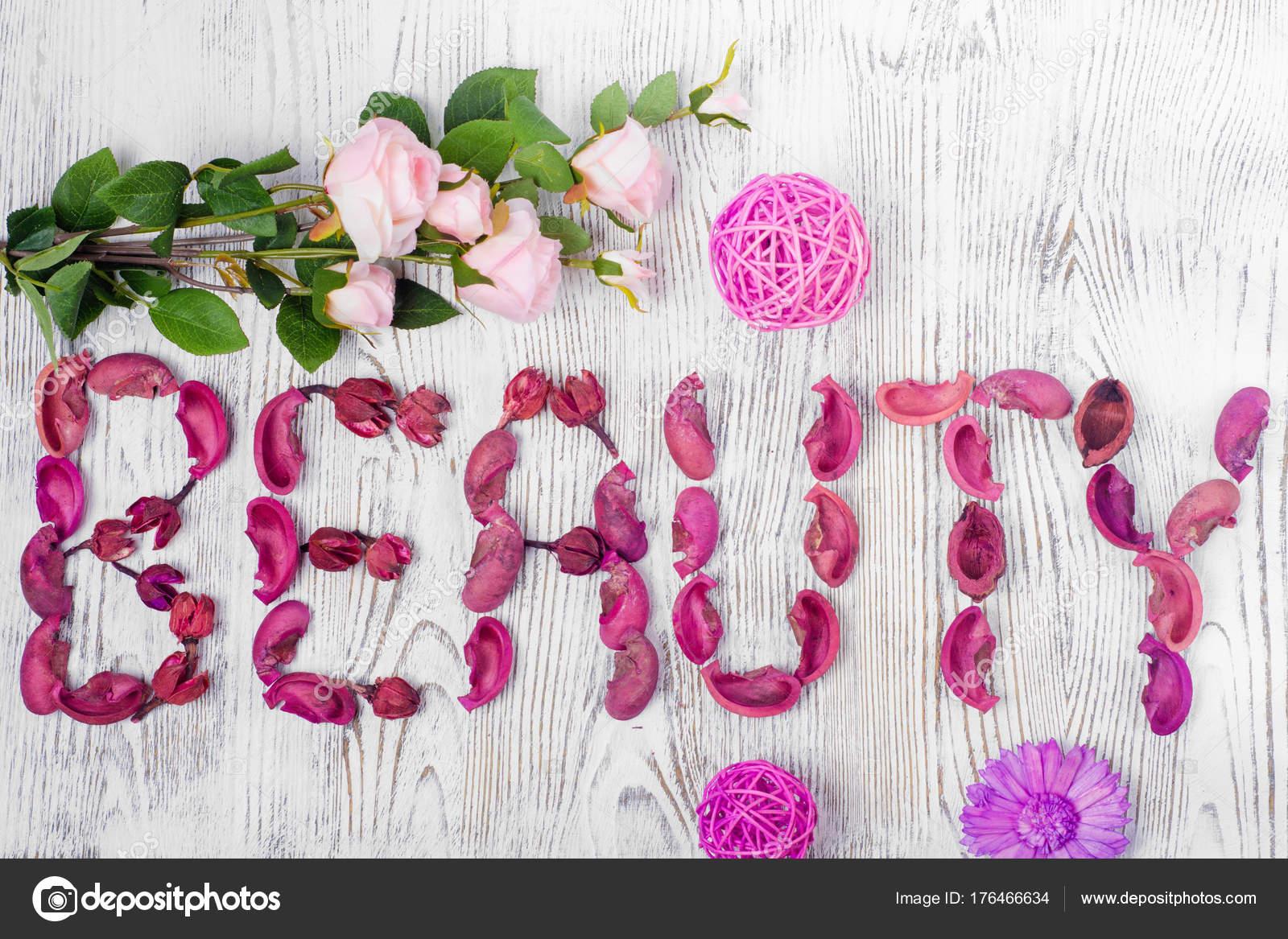 the word beauty flowers � stock photo 169 evgenyjs1 176466634