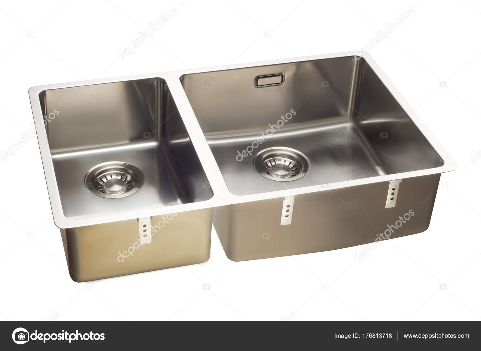 Isolamento di lavello cucina in acciaio inox — Foto Stock ...