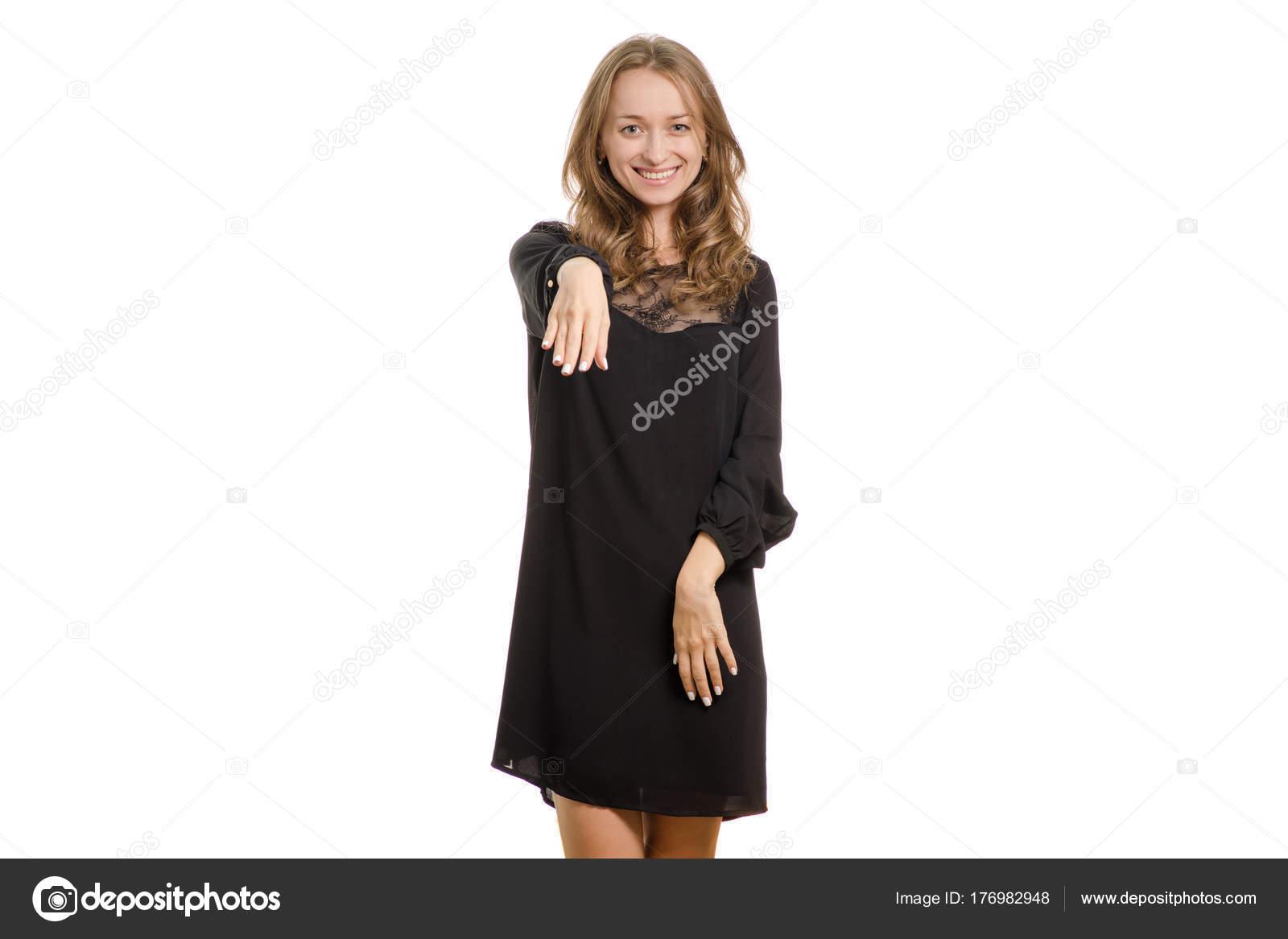 Femme Baise Noire Une Fille Jeune La Robe Main Dans Homme De HUx4qwWvpq