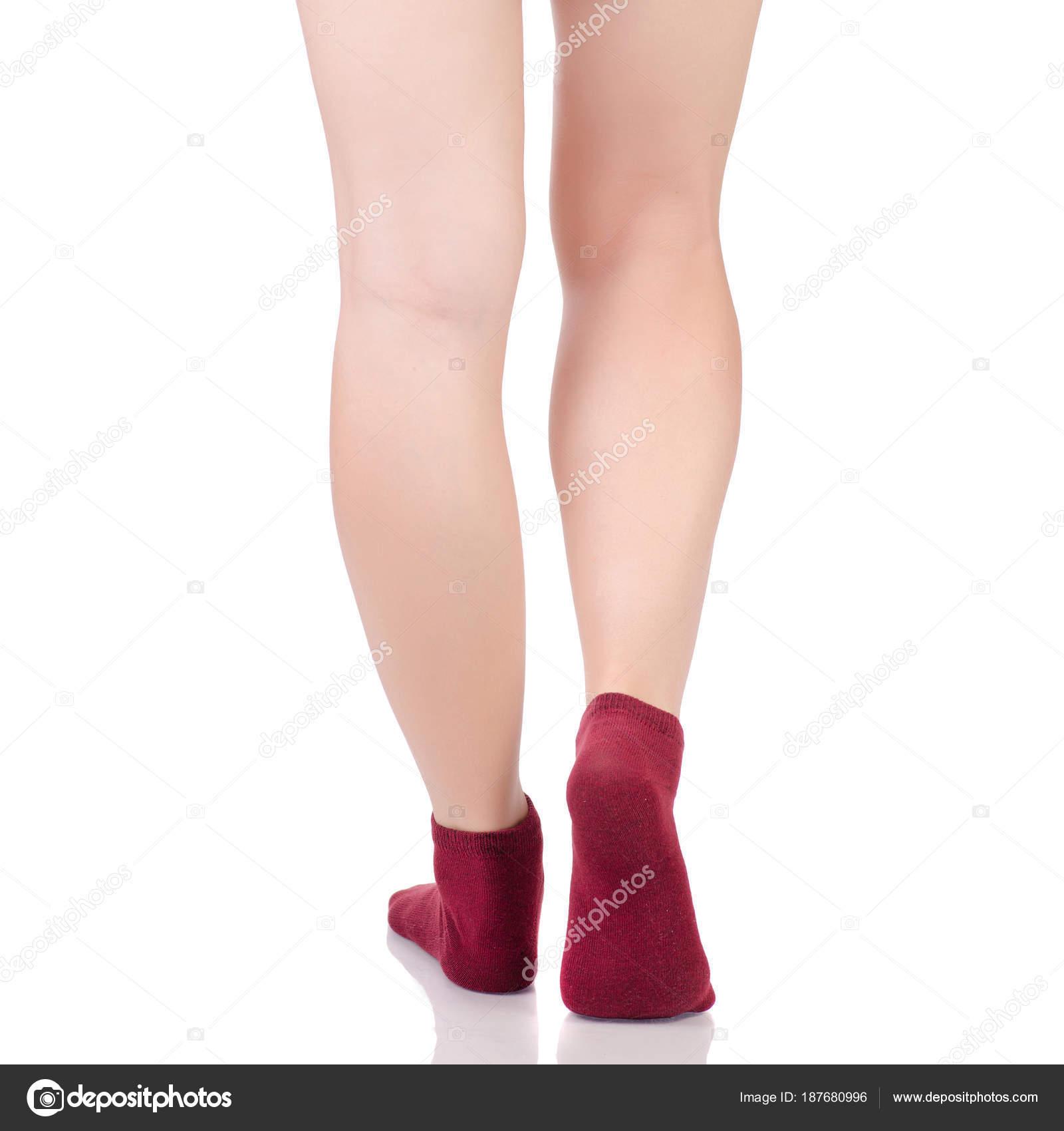 Ножки в оранжевых чулках
