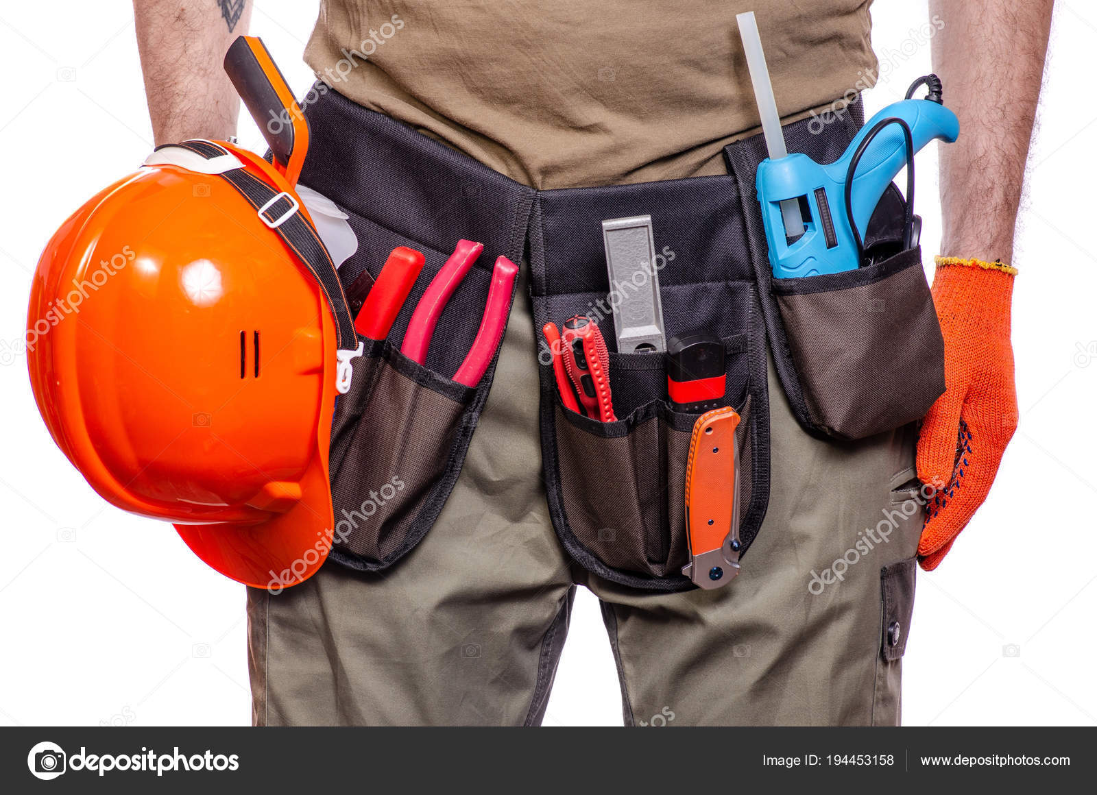 depositphotos_194453158 stock photo construction belt on a man construction belt on a man tool belt builder stock photo